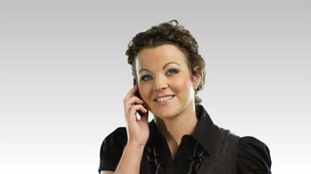 one woman only : Isolated businesswoman on the phone in HD