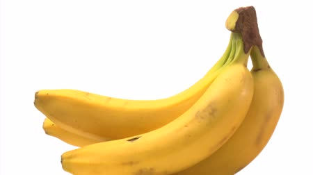 muz : Bunch of yellow bananas Stok Video