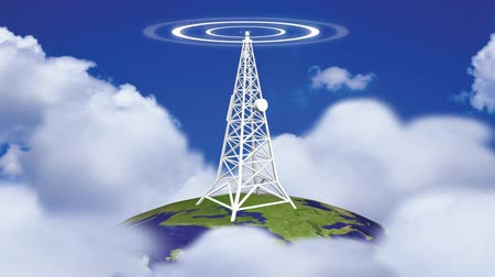 antennák : Animation of a Transmission Tower in HD