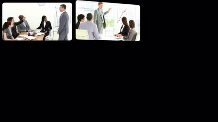 executivo : Montage showing businesspeople doing presentation in HD