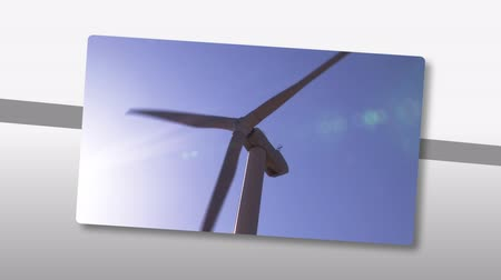 türbin : Animation presenting the concept of wind power in high definition Stok Video