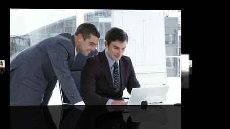 латинский : Business team hard at work HD format  Стоковые видеозаписи