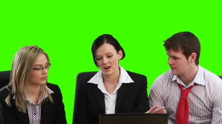 çevre : High Definition Green Screen Footage of a business meeting