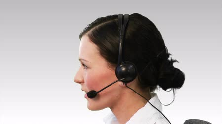 képviselő : Businesswoman on a headset 4