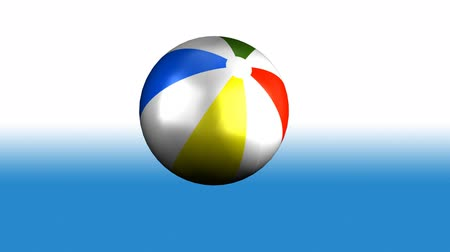 flutuador : Colorful 3d animated beach Ball Spinning