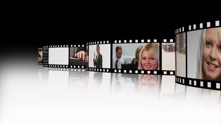 kino : High Definition Film Strip of Business people 2 Wideo