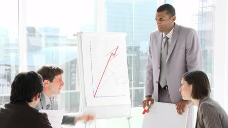 afro americana : Senior Africa american businessman giving a presentation in HD Stock Footage