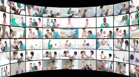 醫療保健 : Scene showing many doctors at work in full HD1080