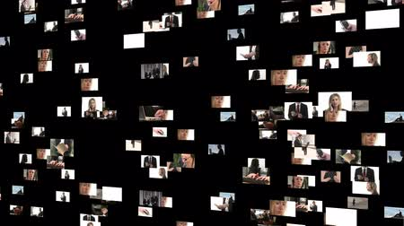 montázs : Collage of footage of business people at work