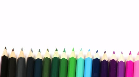 coloured background : Panorama of pencils in arrange in colour wheel in high definition