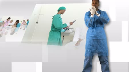 ovmak : Montage on medical scenes in a hospital Stok Video