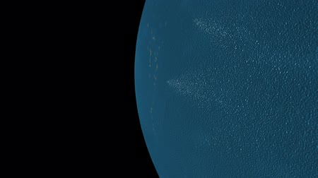yörünge : 3D animation of the blue planet in HD
