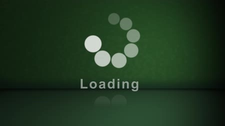 carregamento : Stock Animation of a Loading Background in Green Vídeos