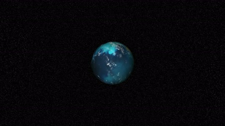 united states : Stock Video Animation of a rotating Globe - Images Courtesy of NASA.org