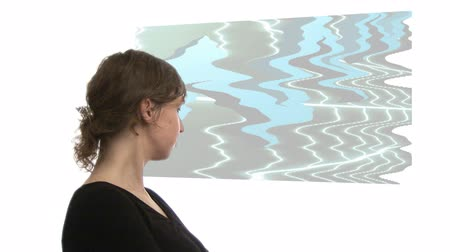factor : Attracted footage of a Businesswoman with 3d Composite