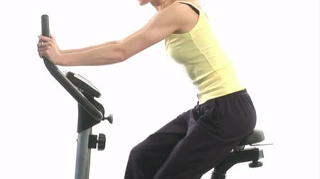 trabalhar fora : Stock Video Footage of a woman doing a work out Vídeos
