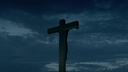 easter : Religious stock footage of a Holy Cross Stock Footage
