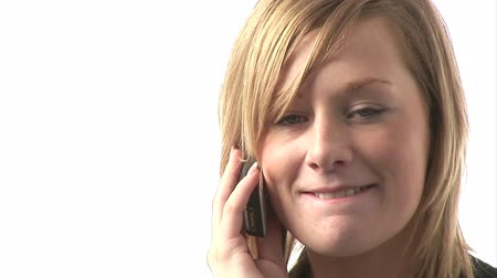 закрывать : Stock Video Footage of a Businesswoman conversing on cellphone