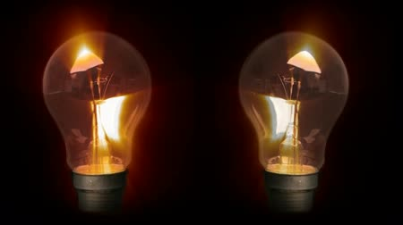 inspiração : Stock Video Concept Animation of Lightbulbs Glowing