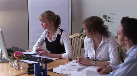 problem : Group Business Meeting 3 Stock Footage