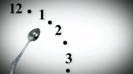 fome : Dinnertime Clock Seamless Stock Footage