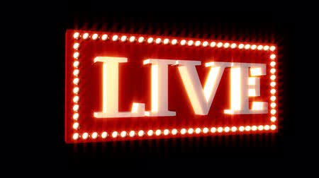 karaoke : 3D Live Music Sign Stock Footage