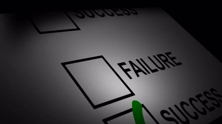 failures : Success and Failure Scroll Stock Footage