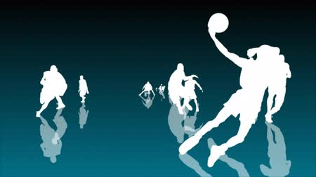 质地 : BASKETBALL PLAYERS SEAMLESS ANIMATION 影像素材