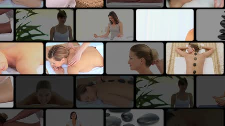 терапия : Montage of women at the spa