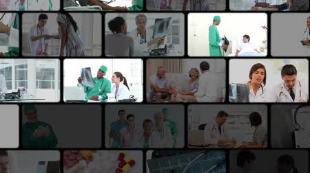 médicos : Montage of people in the hospital