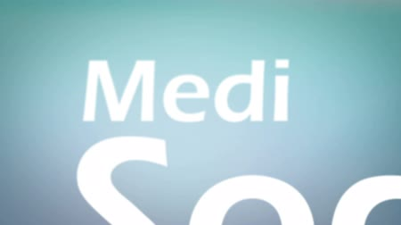 the media : Animation about telecommunication concepts Stock Footage