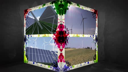 renovável : 3D Animation-Cube of renewable Energy Vídeos