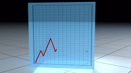 chart : Animated cube spinning on itself with statistics on it