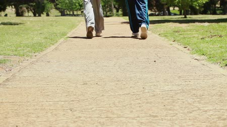 jogging : Mature couple jogging together in the countryside