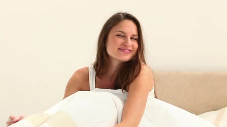 double happiness : Women well rested in her bedroom
