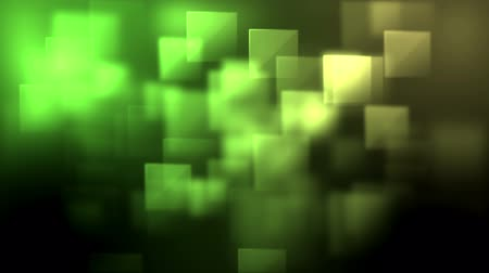 ve tvaru : Green and yellow squares appearing against a black background