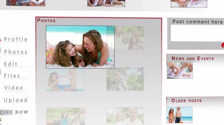alargamento : Animation of family videos on a social network