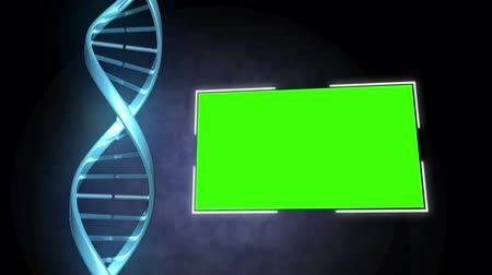 ДНК : Animation of DNA image next to a screen