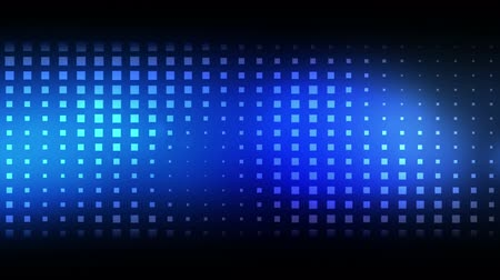 forma tridimensional : Moving blue squares against a black background