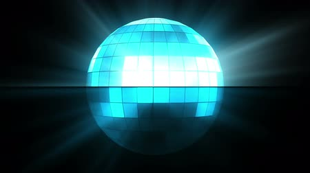 disko : Blue disco ball against a black background