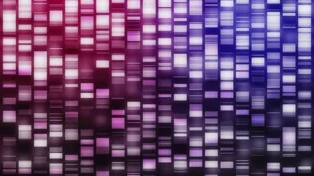 ДНК : Falling DNA strands in pink, purple and blue on black background