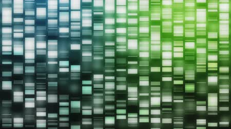 ДНК : Cascading DNA strands in blue and green on black background Стоковые видеозаписи