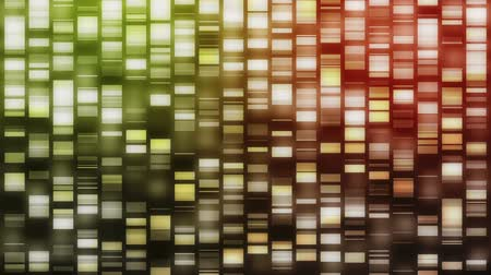 ДНК : Strands of green, red and orange DNA falling on black background