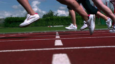 stopy : Athletes running a race on the track