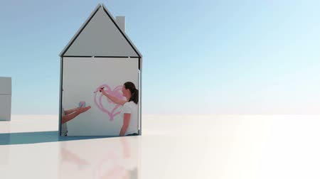 kutilství : DIY montage with copy space presented on 3d house illustration