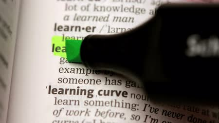 zvýrazňovač : Definition of learning highlighted in the dictionary