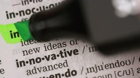 zvýrazňovač : Definition of innovation highlighted in the dictionary