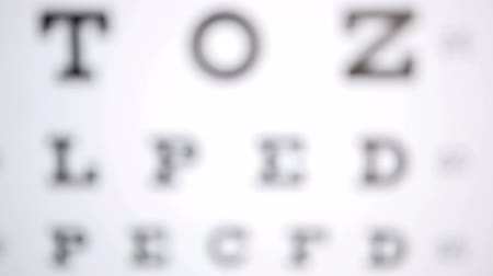 фокус : Focus on a reading test for opticians