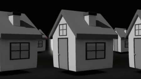 properties : Finding the perfect home animation with red glowing roof