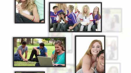 juventude : Montage of students clips into frames on white background